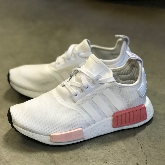 new arrival 5fef2 ff6ec ADIDAS NMD_R1 White & Pink (Rare)